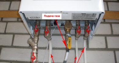 Установка газового котла своими руками.