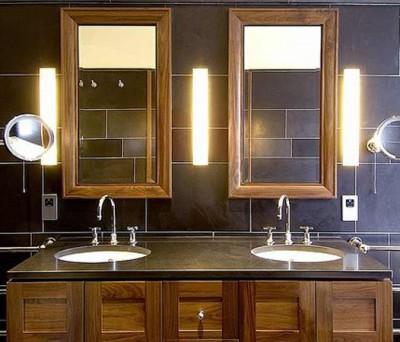 Как сделать освещение зеркала в ванной